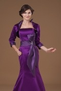 Purple Satin Sleeved Wrap