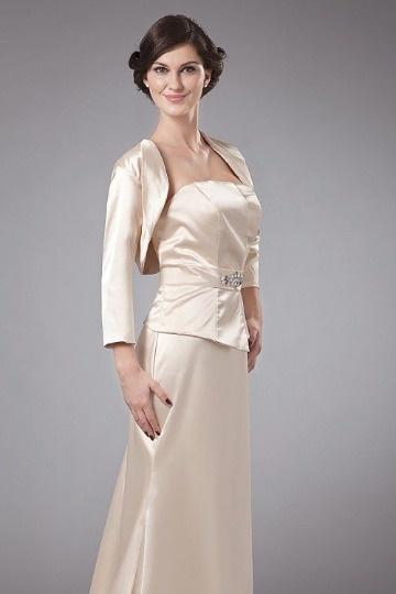 Dressesmall Simple Satin Sleeved Wrap