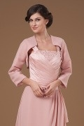 Pink Chiffon Sleeved Wrap