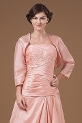 4 5 Length Sleeves Pink Taffeta Wrap