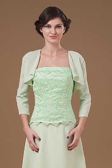 Dressesmall Green Sleeved Chiffon Wrap