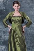 Long Sleeves Green Taffeta Wrap