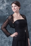 Black Long Sleeves Lace Wrap