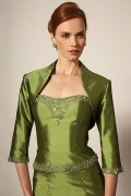 Green Beadings Sleeved Wrap