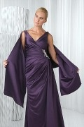 Purple Satin Special Occasion Shawl