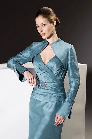 Dressesmall Special Long Sleeves Taffeta Wrap