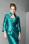 3 4 Length Sleeve Botton Taffeta Wrap