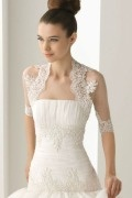 Tulle Embroidery Half Sleeves Wedding Wrap