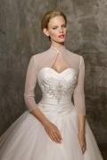 Translucent 3 / 4 Length Sleeves Organza Wedding Jacket