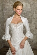 Taffeta 3 / 4 Length Sleeves Wedding Jacket