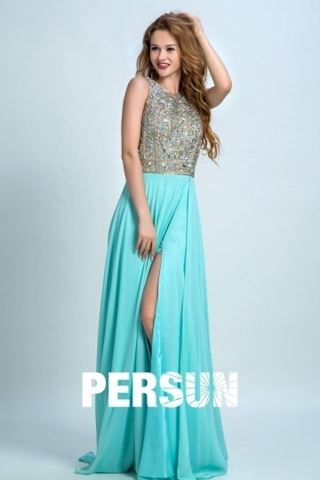 Dressesmall Sexy Sequins Backless Prom Long Prom Gown Persun