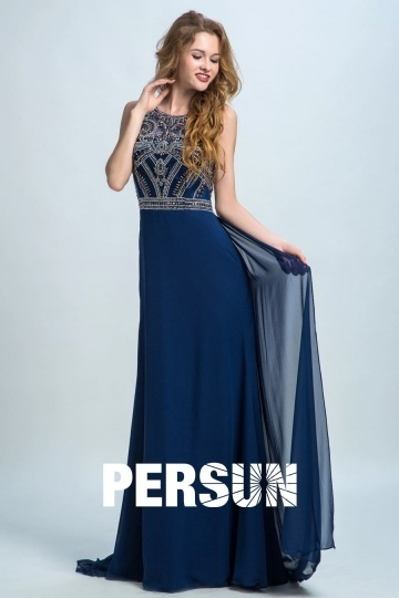 Dressesmall Persun Vintage Scoop Embroidery Long Prom Dress