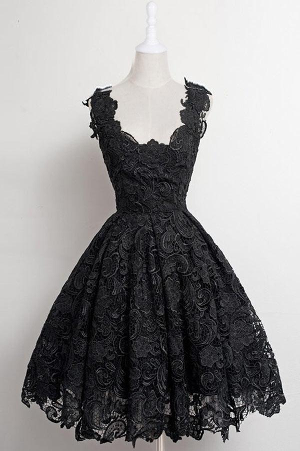 romantique robe courte en dentelle rose de bal. Black Bedroom Furniture Sets. Home Design Ideas