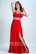 Persun Open Back Scoop Key Hole Long Prom Dress