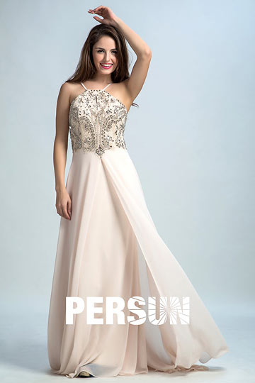 Dressesmall Persun Elegant Spaghetti Straps Long Prom Dress