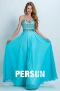 Persun Elegant Sweetheart Long Crystal Details Evening Gown