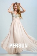 Persun Elegant V Neck Long Prom Gown