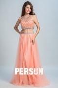 Persun Unique Scoop Long Evening Gown