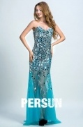Persun Elegant Sweetheart Mermaid Crystal Details Long Evening Gown