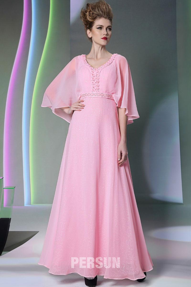 g nstig empire v ausschnitt rosa kleider f r hochzeitg ste online verkauf persun. Black Bedroom Furniture Sets. Home Design Ideas