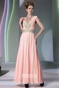 Vintage robe soirée longue ornée de broderie