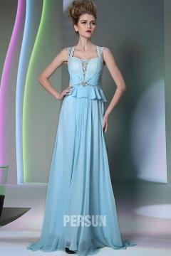 Uckfield Chic Light blue Peplum Long UK Prom Gown