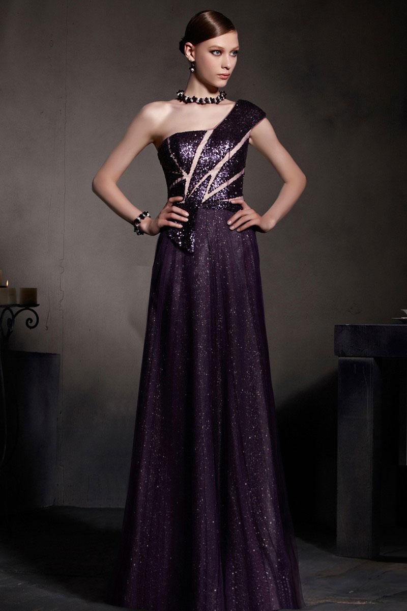 g nstig sexy a linie ein schulter bodenlanges lila t ll abendkleider online verkauf persun. Black Bedroom Furniture Sets. Home Design Ideas