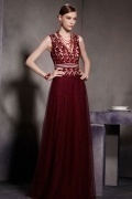 Sexy V neck Sequins Sleevelss Zipper Floor Length Prom Dress