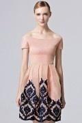 2017 Chic Off Schulter A-Linie Kurz Abendkleider aus Tüll
