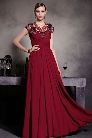 Robes de soiree rouge bordeaux
