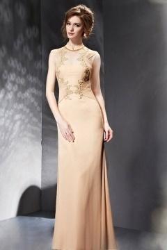 Elégante robe de gala à col chinois