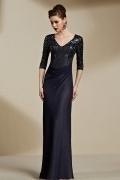 Chic V Ausschnitt A Linie Reißverschluss Sequins Abendkleider aus Chiffon