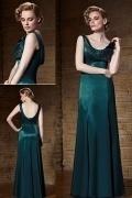 Elegantes grünes Etui-Linie Bodenlanges Abendkleider