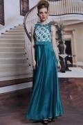 A Linie U Ausschnitt Kleid aus elastisches gewebtes Satin für Homecoming und Ball