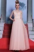 Romantique robe de soirée rose en tulle