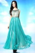 Modern Chiffon A Line Scoop Sequins Formal Dress