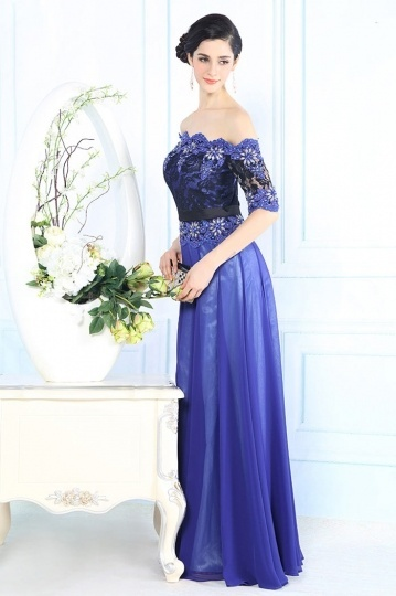 Dressesmall Gorgeous Chiffon Off Shoulder Beading Evening Dress