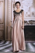 Vintages A-Linie Bodenlanges Empire Abendkleid aus Satin