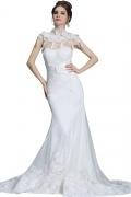 Chic weißes Herz-Ausschnitt Meerjungfrau Tüll Abendkleid