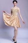 U Ausschnitt Gerade Linie Chiffon Kleid für Ball und Homecoming