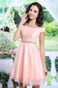 Robe pour mariage rose courte en tulle