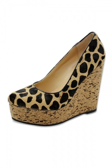 Must-have Leopard Wedge High Heels