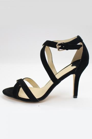 riemen leder stiletto high heel sandalen sandaletten. Black Bedroom Furniture Sets. Home Design Ideas