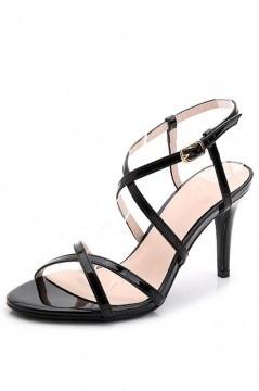Sandales à talons hauts avec lanières fines croisées