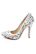 Chic Farbig Niete Pumps