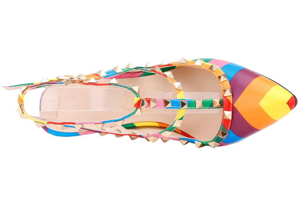 sandales chic en couleur fluo