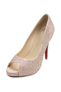 Sweet Offerne Zehe Strass Pumps