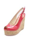 Sexy und Klassisch glatt Offerne Zehe Keils Sandalen