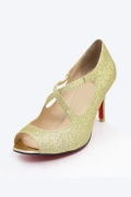 Gold Elegant Offerne Zehe Sandalen