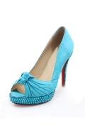 Sweet Blau Offerne Zehe Schleife Sandalen